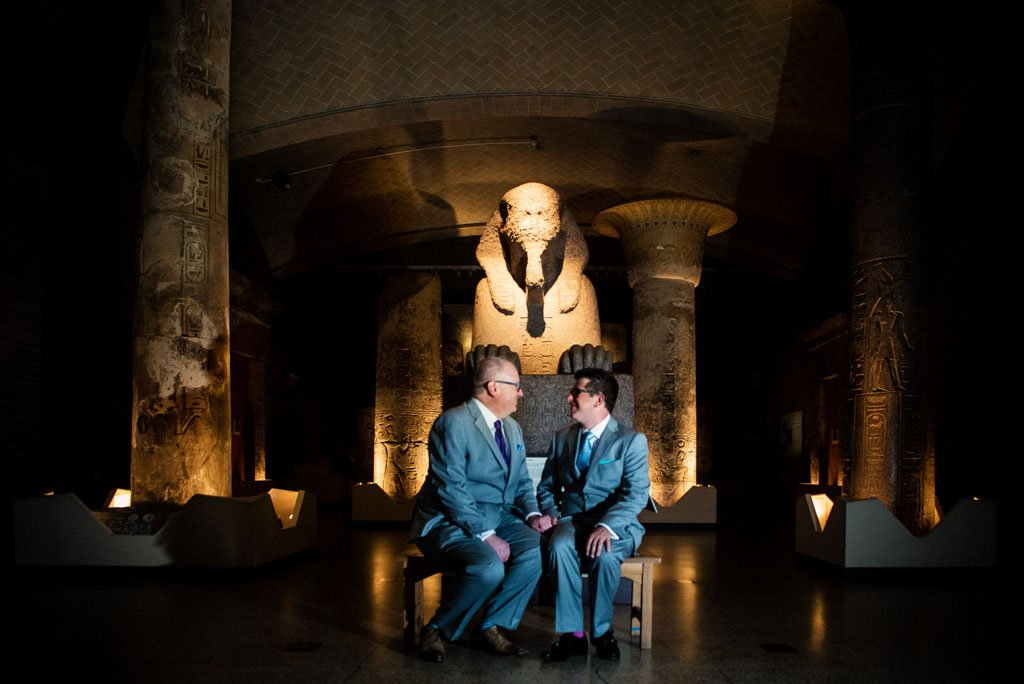 LGBTQ wedding at Penn Museum of Archeology