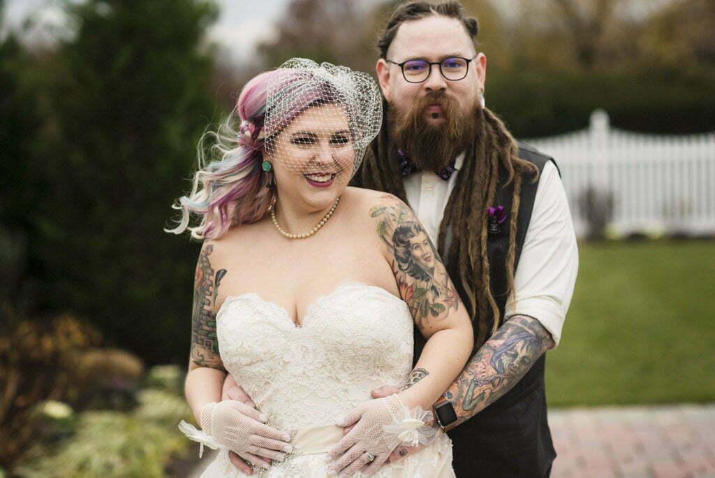 Tattooed Bride Marries her Love in a Star Wars Wedding at Barn on Bridge
