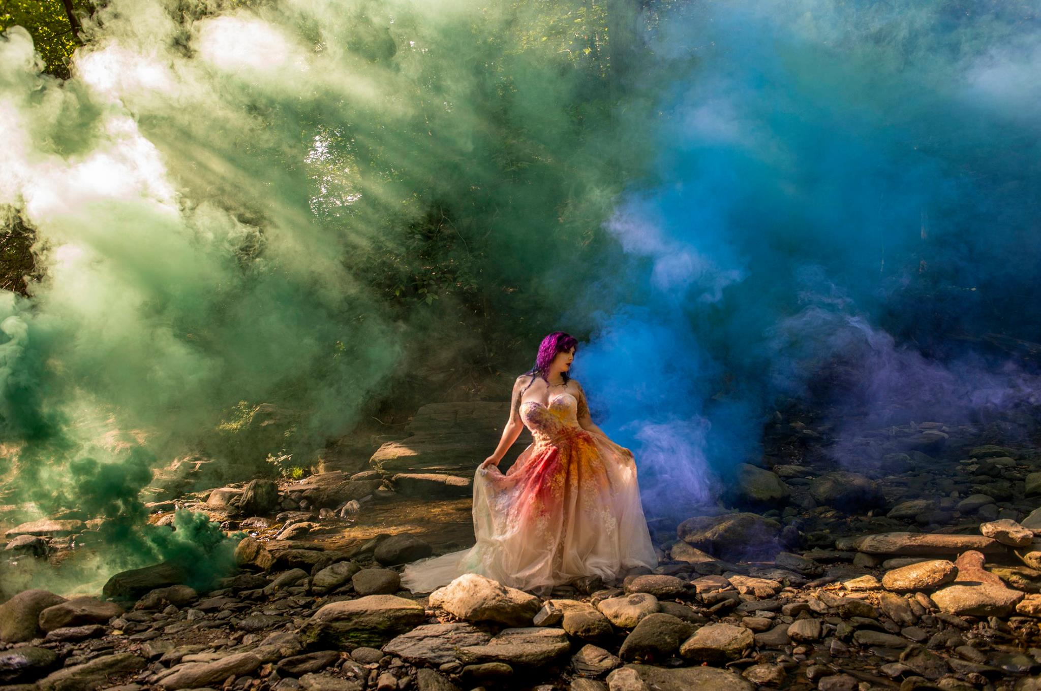 Trash the dress in Philly's Wissahickon