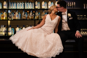 Cescaphe Ballroom Old Hollywood Glam Wedding-116