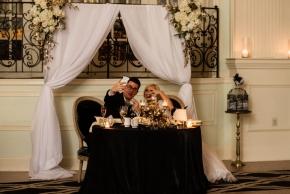 Cescaphe Ballroom Old Hollywood Glam Wedding-144